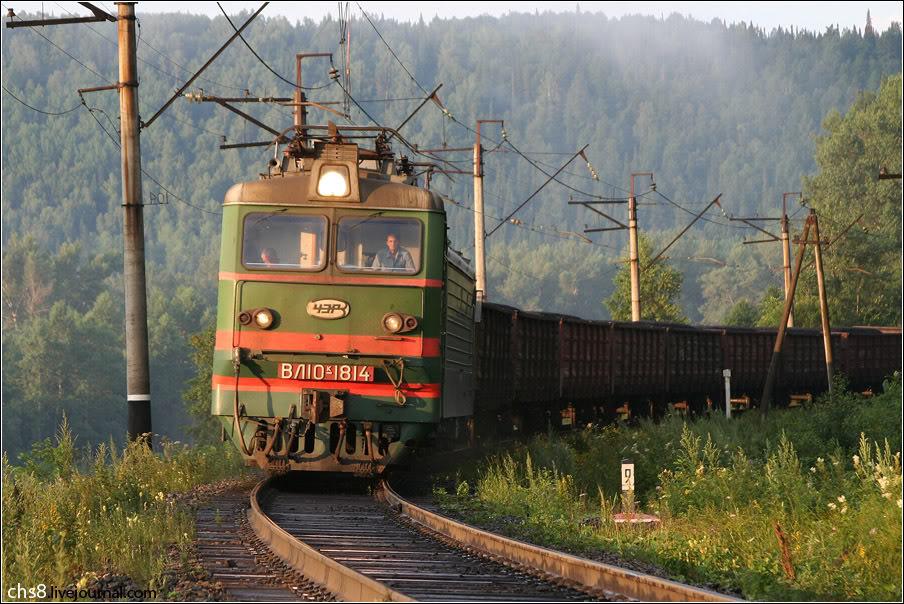 Электровоз ВЛ10К-1814, перегон Инзер - Тюльма КБШ.